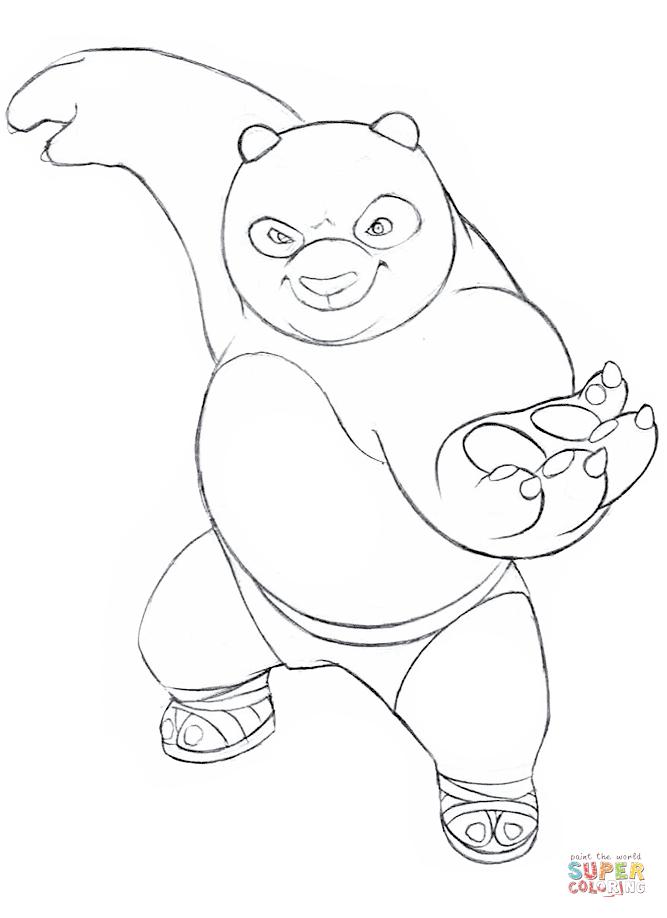 Coloriage - Kung Fu Panda | Coloriages À Imprimer Gratuits destiné Coloriage Kung Fu Panda A Imprimer Gratuit