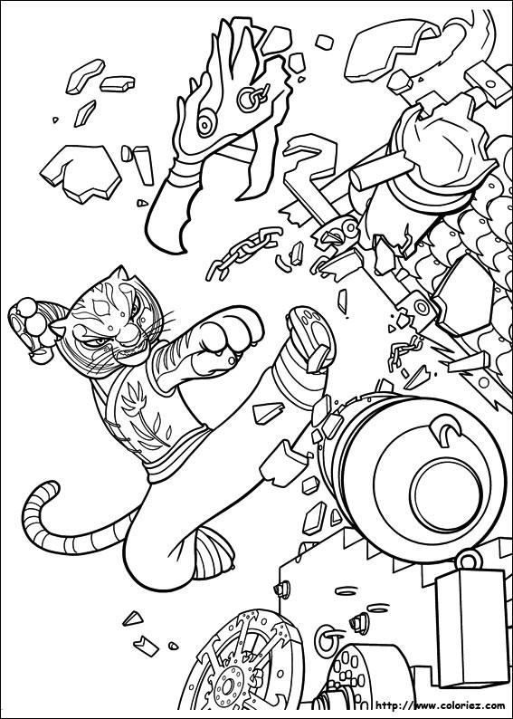 Coloriage Kung Fu Panda Tigresse En Action Dessin Gratuit dedans Coloriage Kung Fu Panda A Imprimer Gratuit