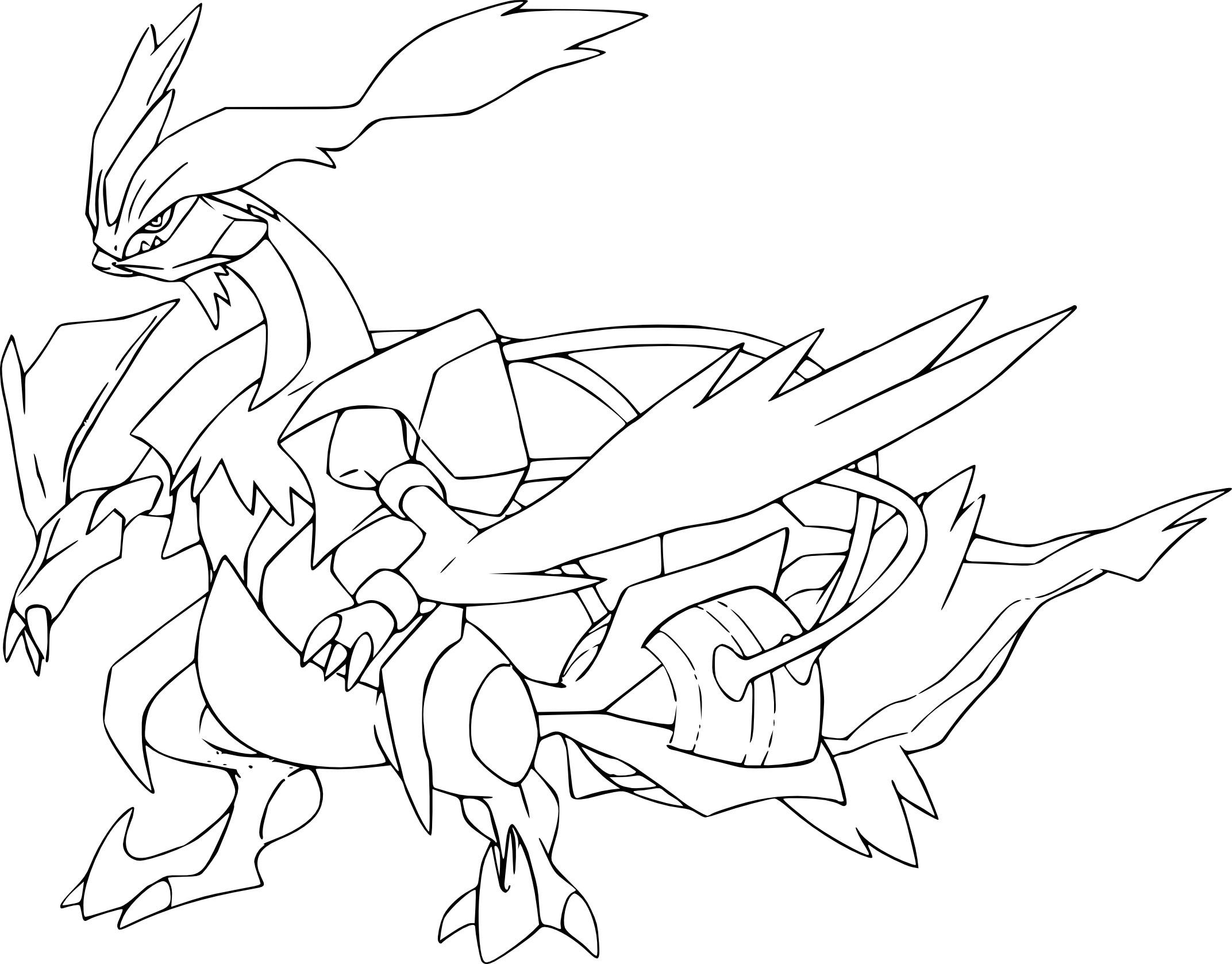 Coloriage Kyurem Blanc Pokemon À Imprimer tout Dessin Pokemon Reshiram