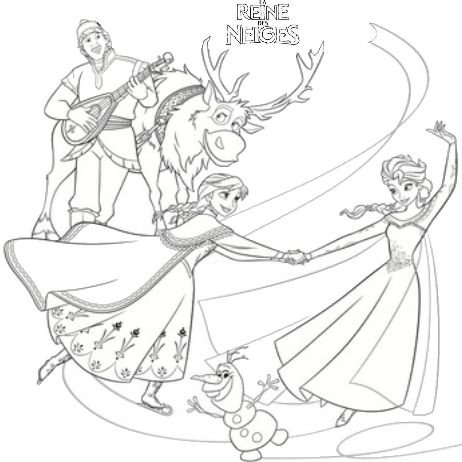 Coloriage La Reine Des Neiges La Fete | Coloriage Reine avec Coloriage Reine Des Neiges À Imprimer Gratuit