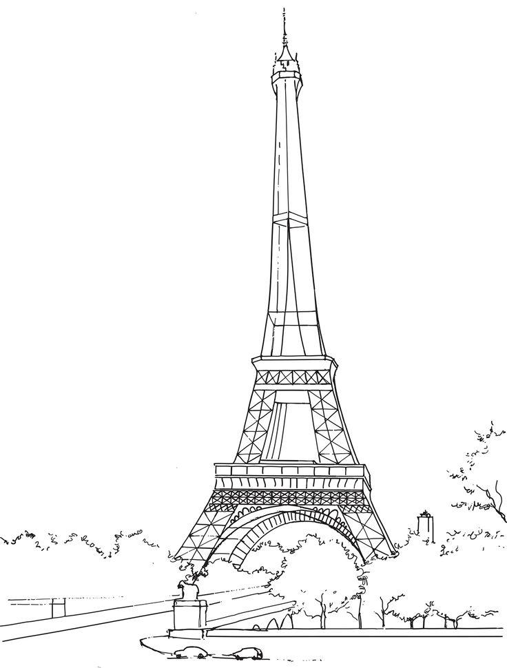Coloriage La Tour Eiffel À Imrimer Et À Colorier In 2020 intérieur Tour Effel Dessin
