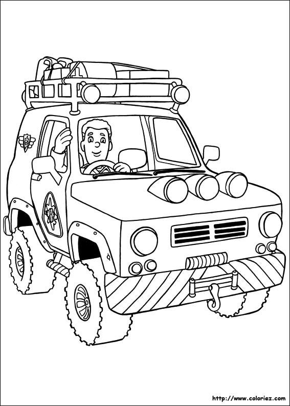 Coloriage La Voiture De Pompier Dessin Gratuit À Imprimer destiné Coloriage Pompier À Imprimer