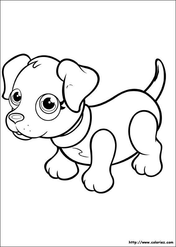Coloriage - Labrador Noir à Coloriage Labrador A Imprimer