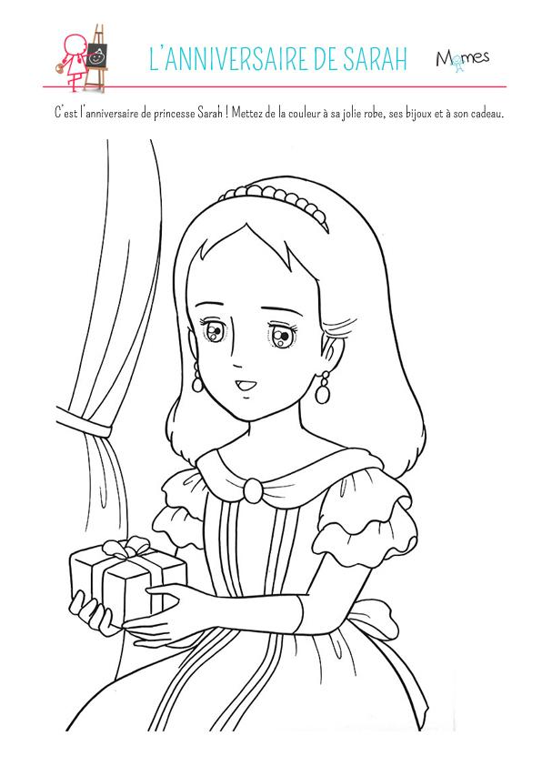 Coloriage L'Anniversaire De Sarah - Momes tout Dessin Animé Princesse Sarah
