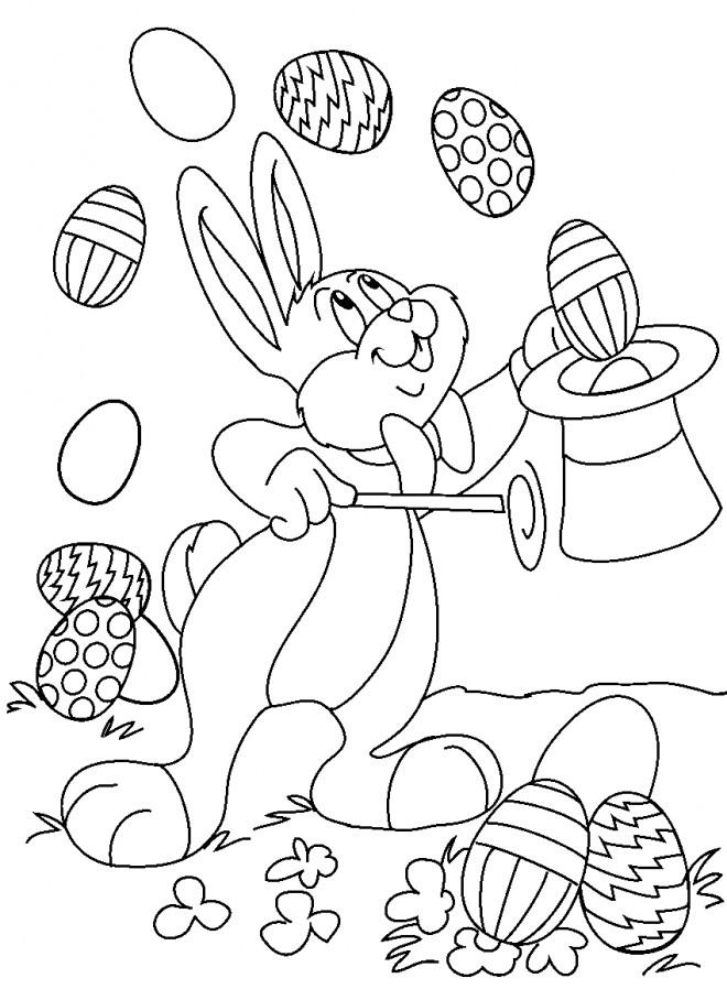 Coloriage Lapin De Pâques Facile Dessin Gratuit À Imprimer encequiconcerne Dessin De Paque