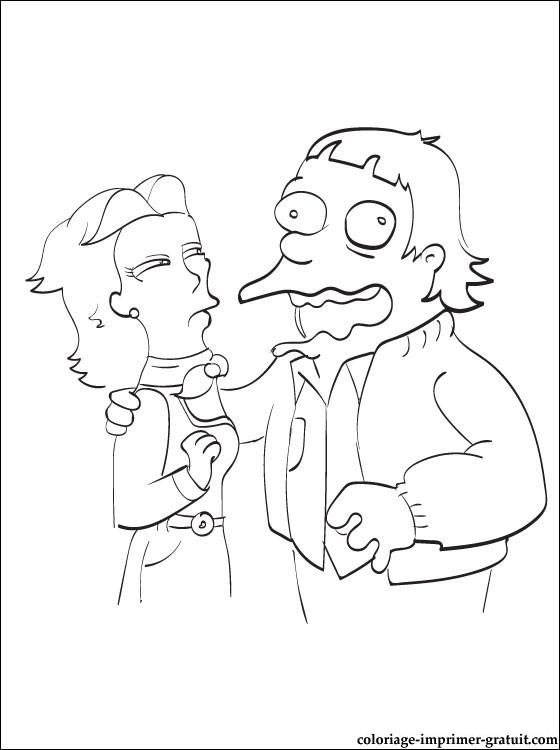 Coloriage Le Couple Simpson | Coloriage À Imprimer Gratuit concernant Coloriage Simpson A Imprimer Gratuit