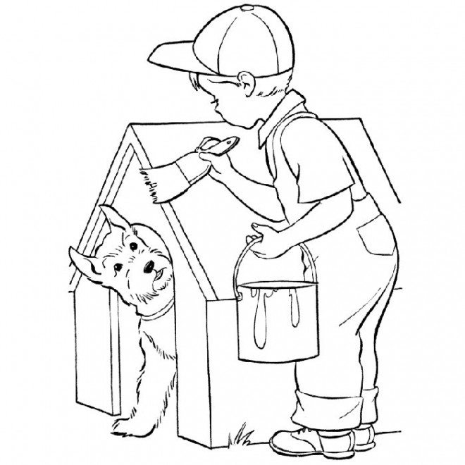 Coloriage Le Petit Garçon Bricoleur Dessin Gratuit À Imprimer dedans Dessin A Imprimer Pour Garçon