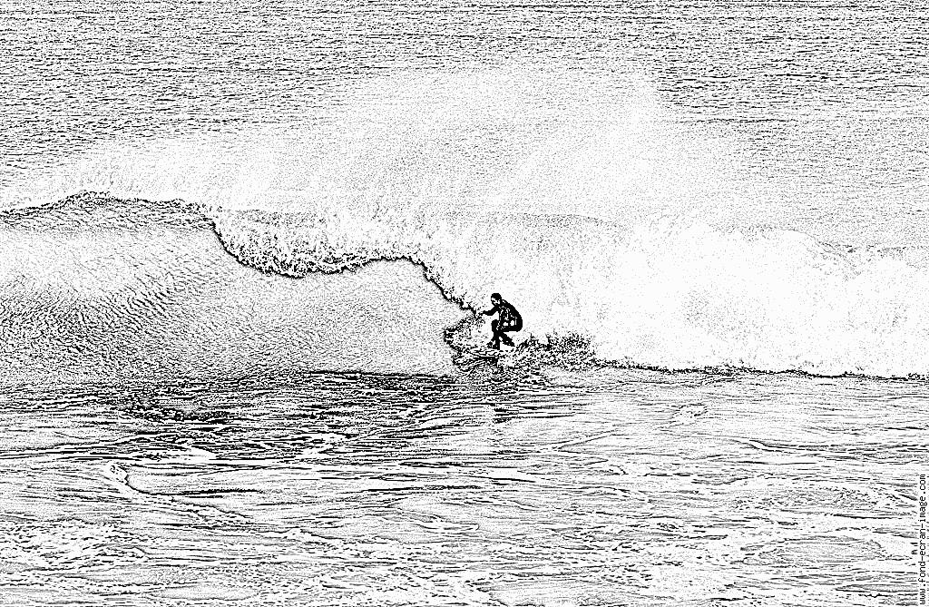 Coloriage Le Surfeur De Bidard À Imprimer Pour Les Enfants dedans Dessin Surfeur