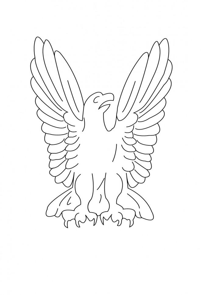 Coloriage Le Symbole D'Aigle Dessin Gratuit À Imprimer à Coloriage Aigle A Imprimer Gratuit