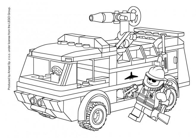 Coloriage Lego City Gratuit À Imprimer avec Lego City Dessin Animé