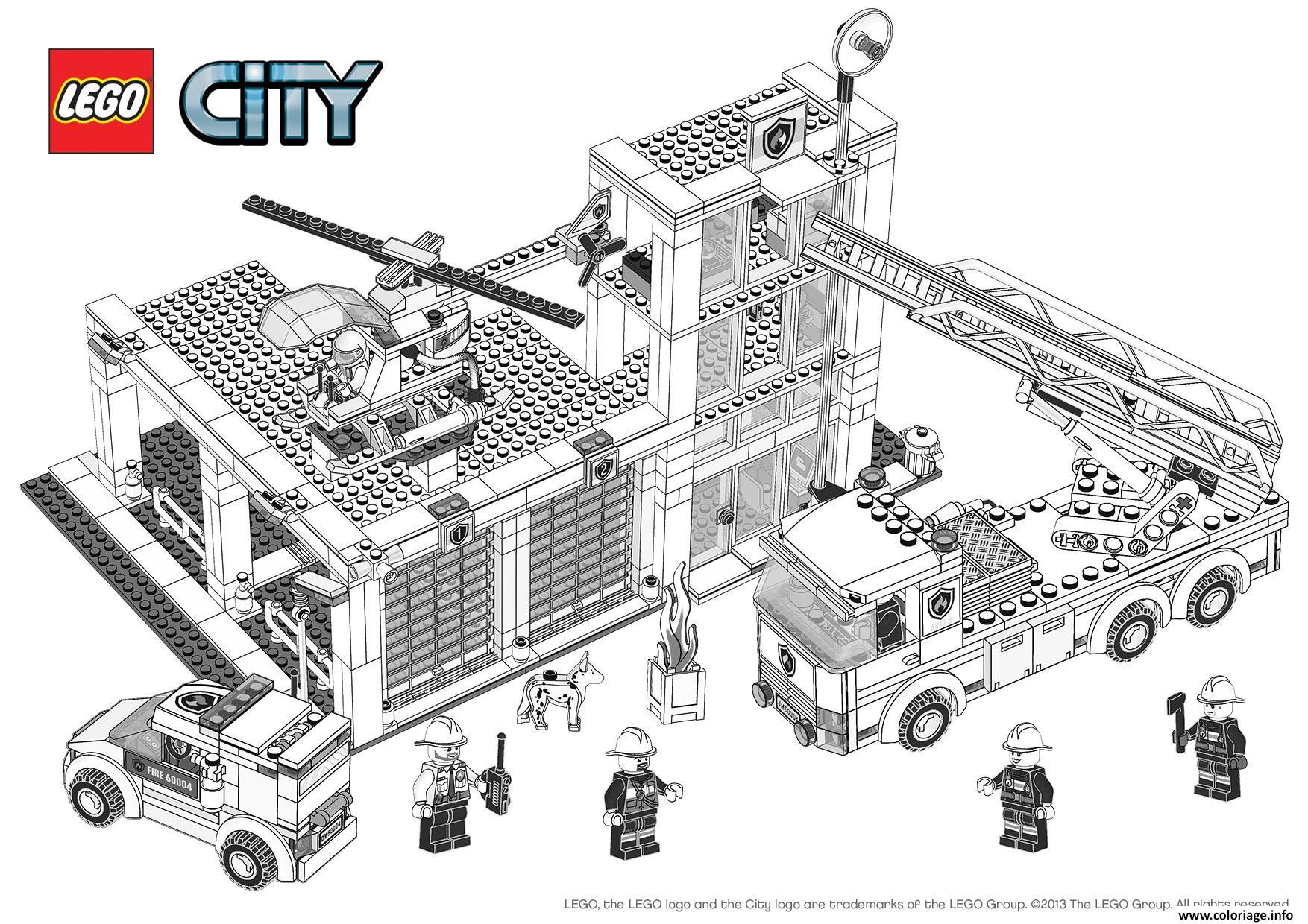 Coloriage Lego City Pompier – 123Coloriage concernant Dessin Animé Lego City