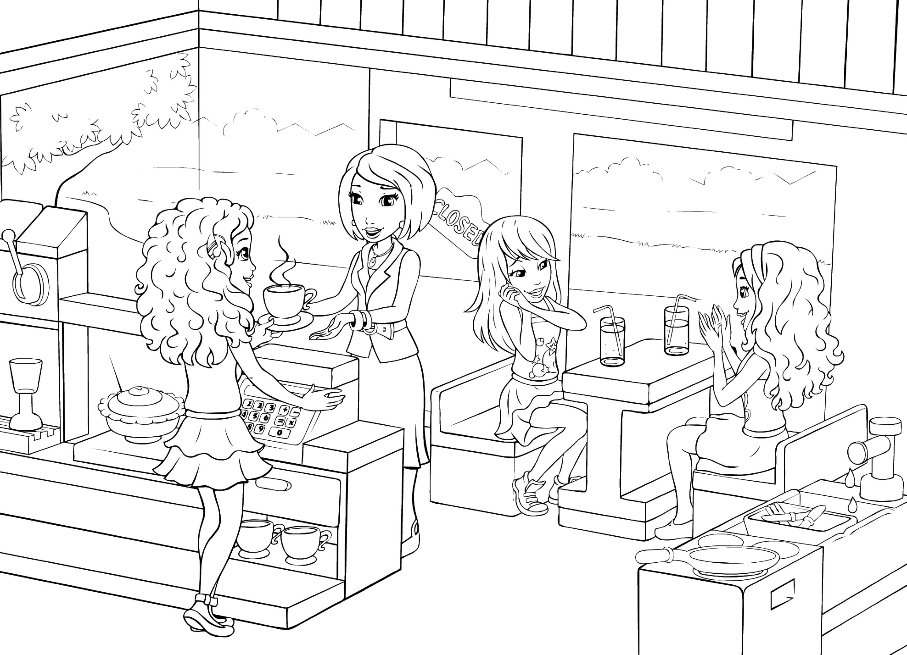 Coloriage Lego Friends En Ligne serapportantà Dessin Animé Lego Friends
