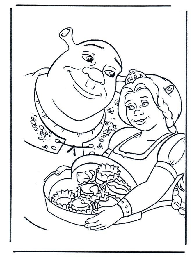 Coloriage Les Amoureux Shrek Et Fiona Dessin Gratuit À avec Coloriage Shrek Et Fiona