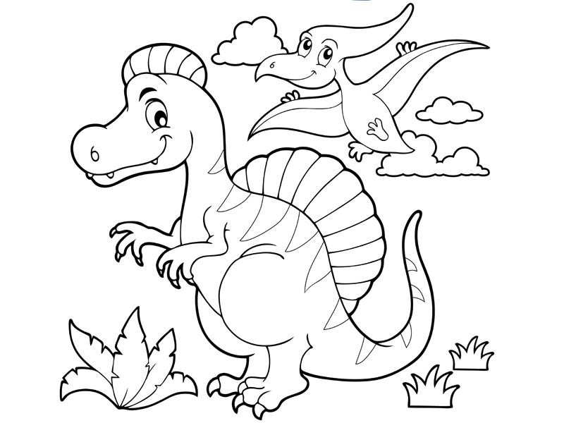 Coloriage : Les Dinosaures En Vadrouille avec Coloriage Dinosaure