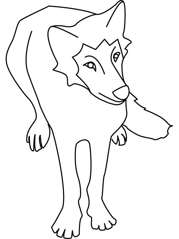 Coloriage Les Loups - Momes tout Coloriage Loup