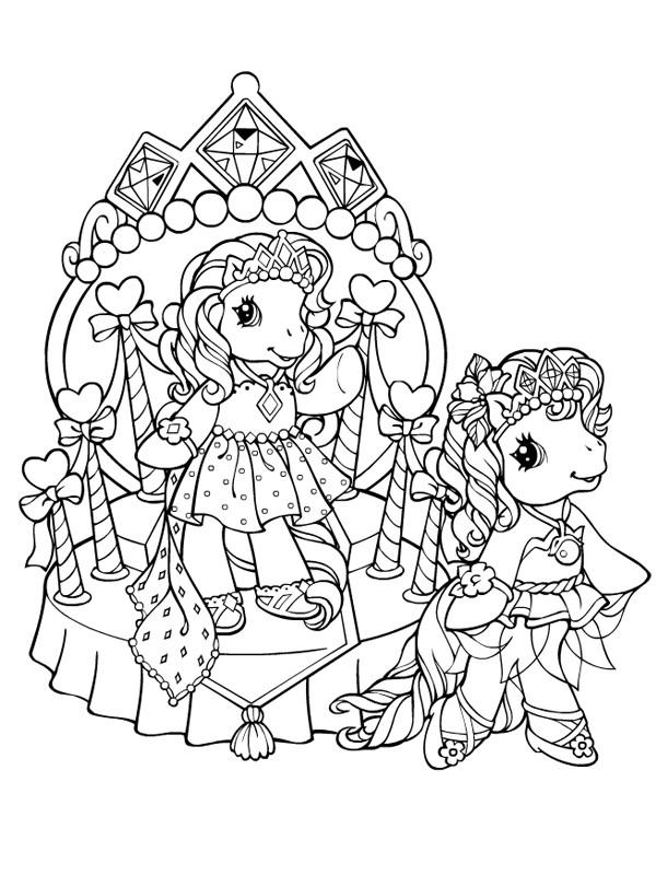 Coloriage Les Princesses De Mon Petit Poney Dessin Gratuit intérieur Coloriage A Imprimer Licorne Et Princesse