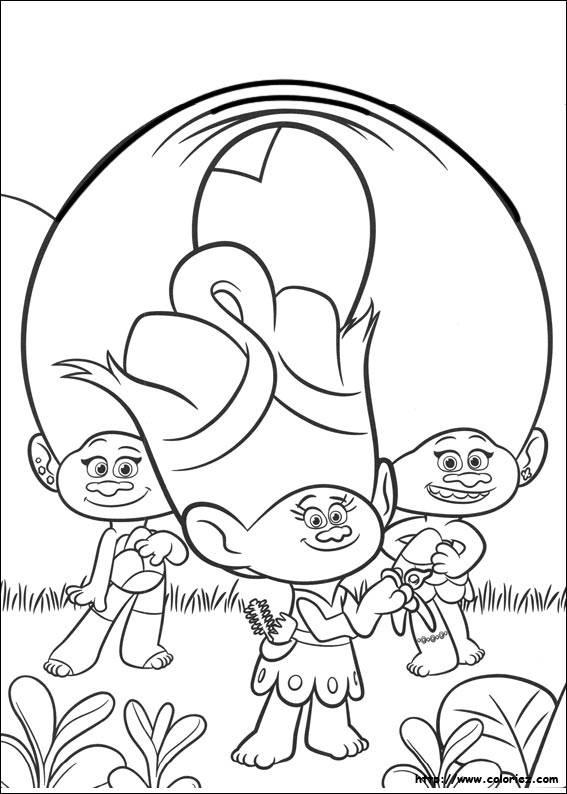 Coloriage Les Trolls Dreamworks Dessin Gratuit À Imprimer serapportantà Dessin De Troll