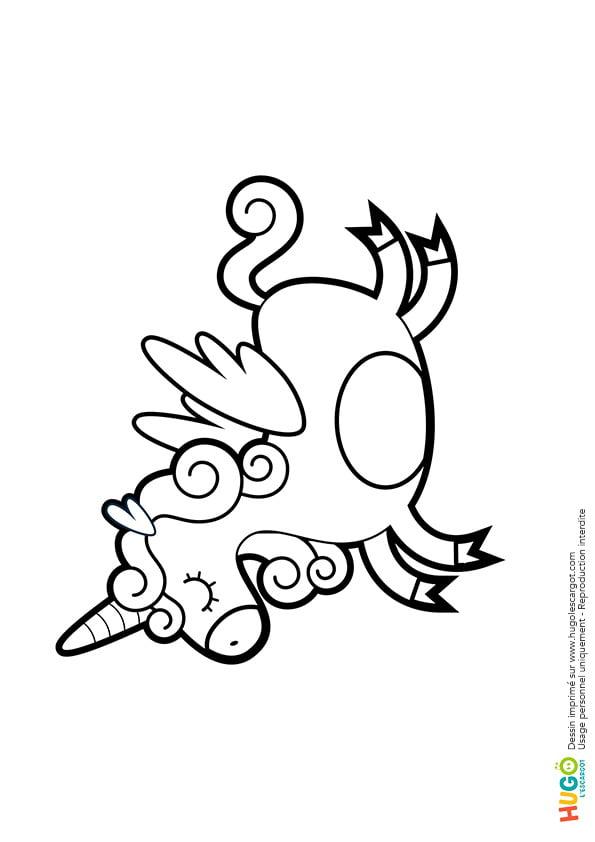 Coloriage Licorne Kawaii En Ligne Gratuit À Imprimer serapportantà Hugo L Escargot Coloriage Gratuit A Imprimer