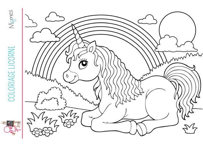 Coloriage Licorne - Momes serapportantà Coloriage A Imprimer Licorne