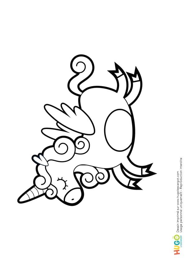Coloriage Licornes Imprimer Sur Hugolescargot Com Avec dedans Dessin Imprimer Gratuitement