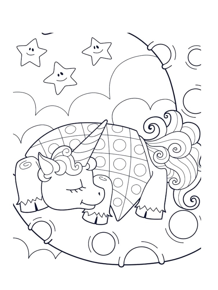 Coloriage Licornes Imprimer Sur Hugolescargot Com Avec pour Coloriage Licorne Kawaii Dessin Kawaii A Imprimer