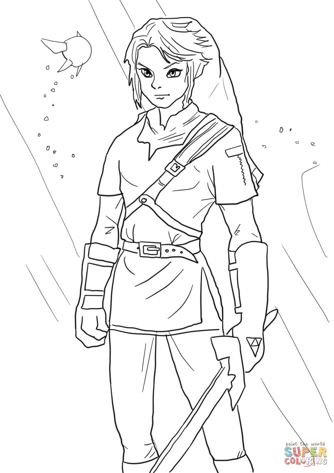 Coloriage - Link De La Légende De Zelda | Coloriages À concernant Coloriage Zelda Twilight Princess