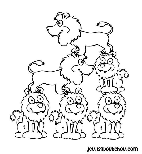 Coloriage Lion À Imprimer Pour Les Enfants - Cp16250 destiné Lion Dessin Enfant
