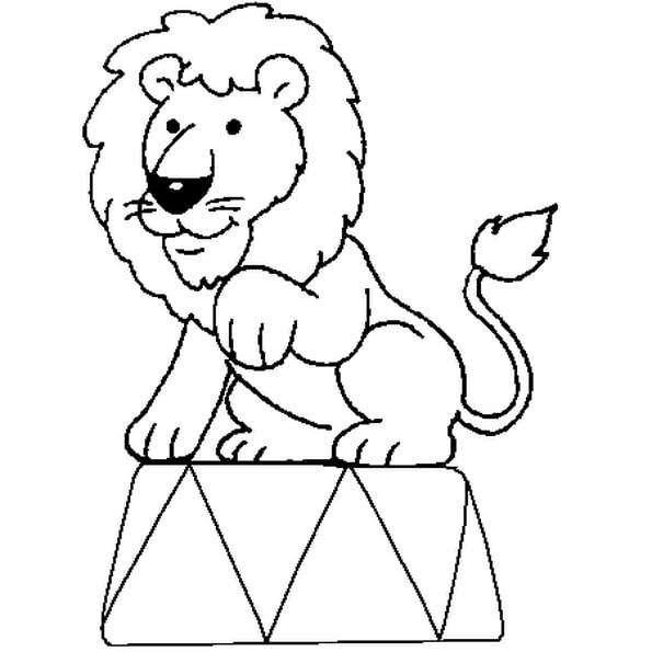 Coloriage Lion Cirque En Ligne Gratuit À Imprimer encequiconcerne Dessin Animaux Elephant De Cirque