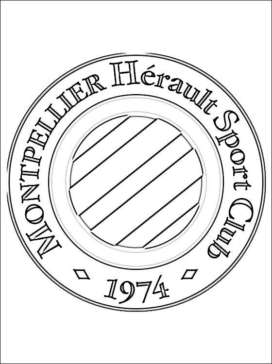 Coloriage Logo De Club De Montpellier Dessin Gratuit À serapportantà Ecusson Des Equipes De Foot