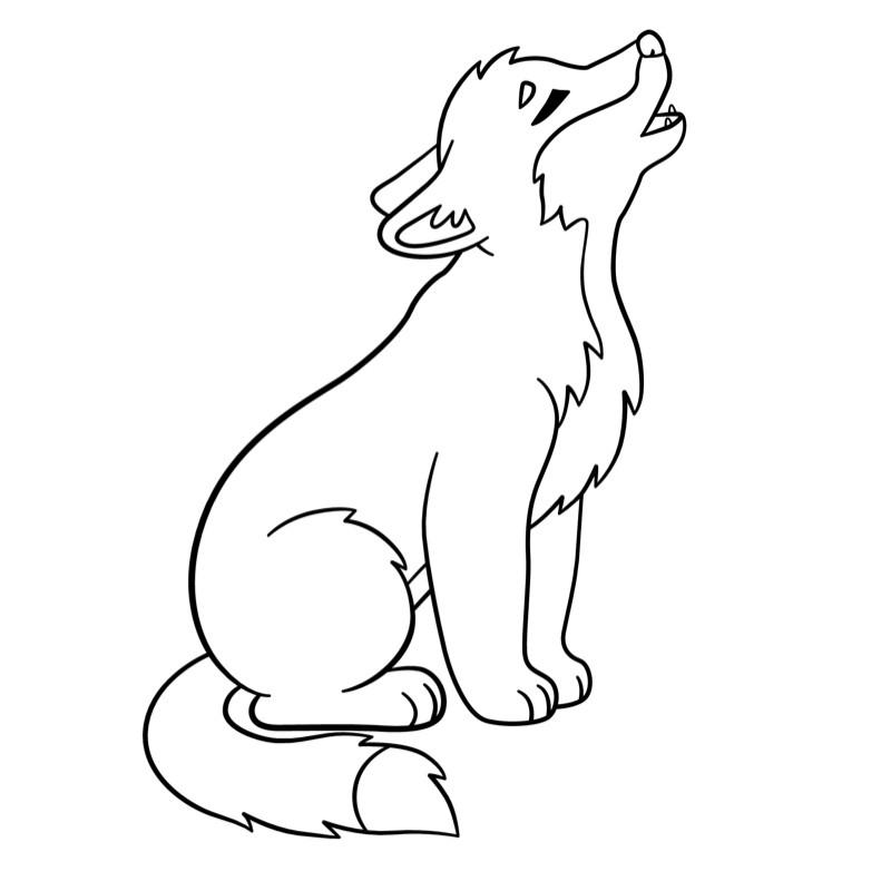 Coloriage Loup #10 Avec Tête À Modeler pour Coloriage Loup