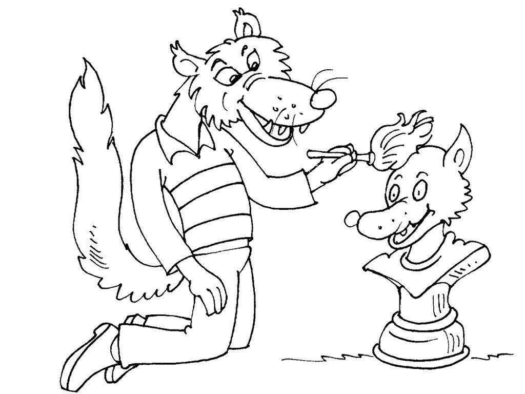 Coloriage Loup 17 - Coloriage Loups - Coloriages Animaux encequiconcerne Coloriage Gulli Fr