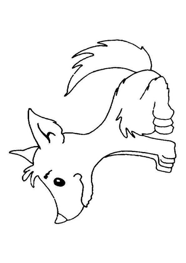 Coloriage Loup 18 Dessin Gratuit À Imprimer serapportantà Loup Dessin Facile