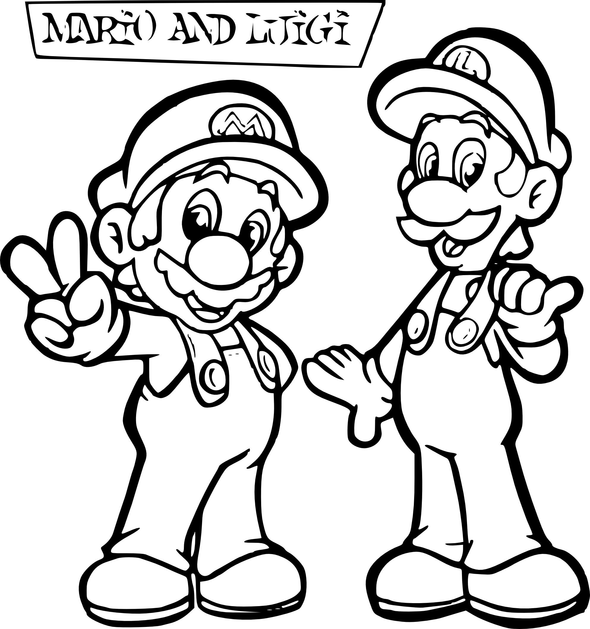 Coloriage Luigi Et Mario À Imprimer Sur Coloriages encequiconcerne Coloriage Mario