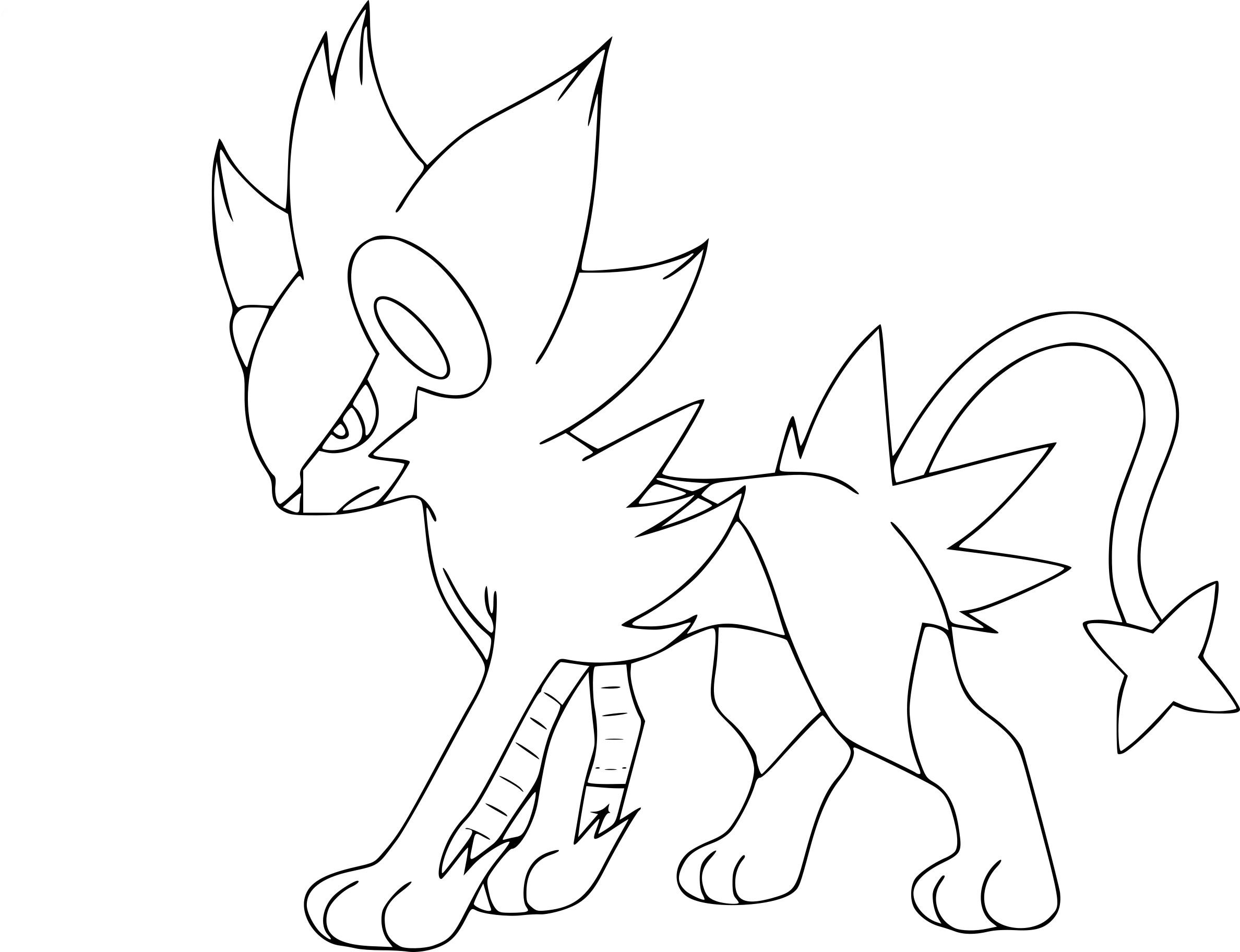 Coloriage Luxray Pokemon À Imprimer avec Dessiner Des Pokémon