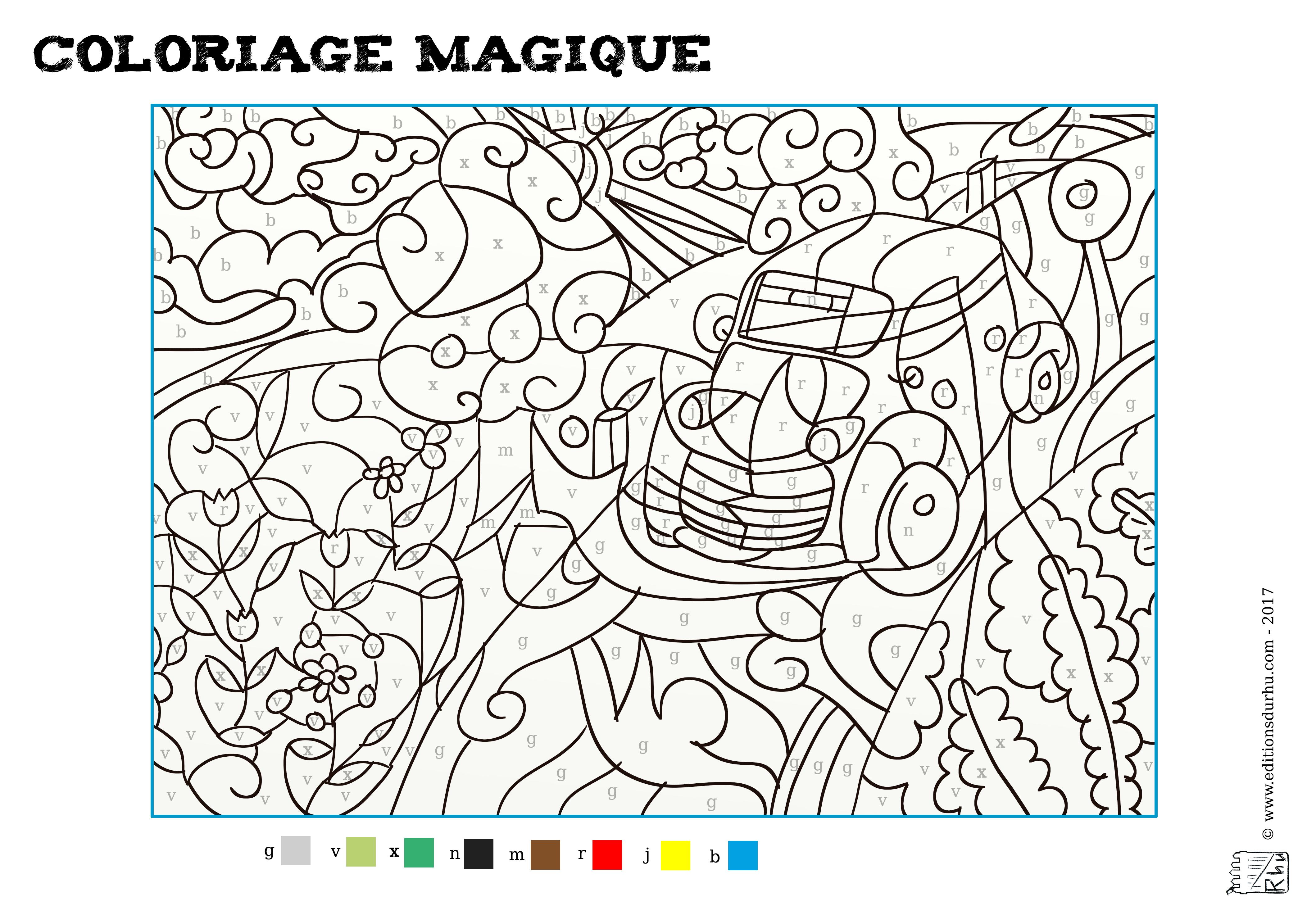 Coloriage Magique #3 - Maison Du Rhu intérieur Coloriage Magique Adulte À Imprimer