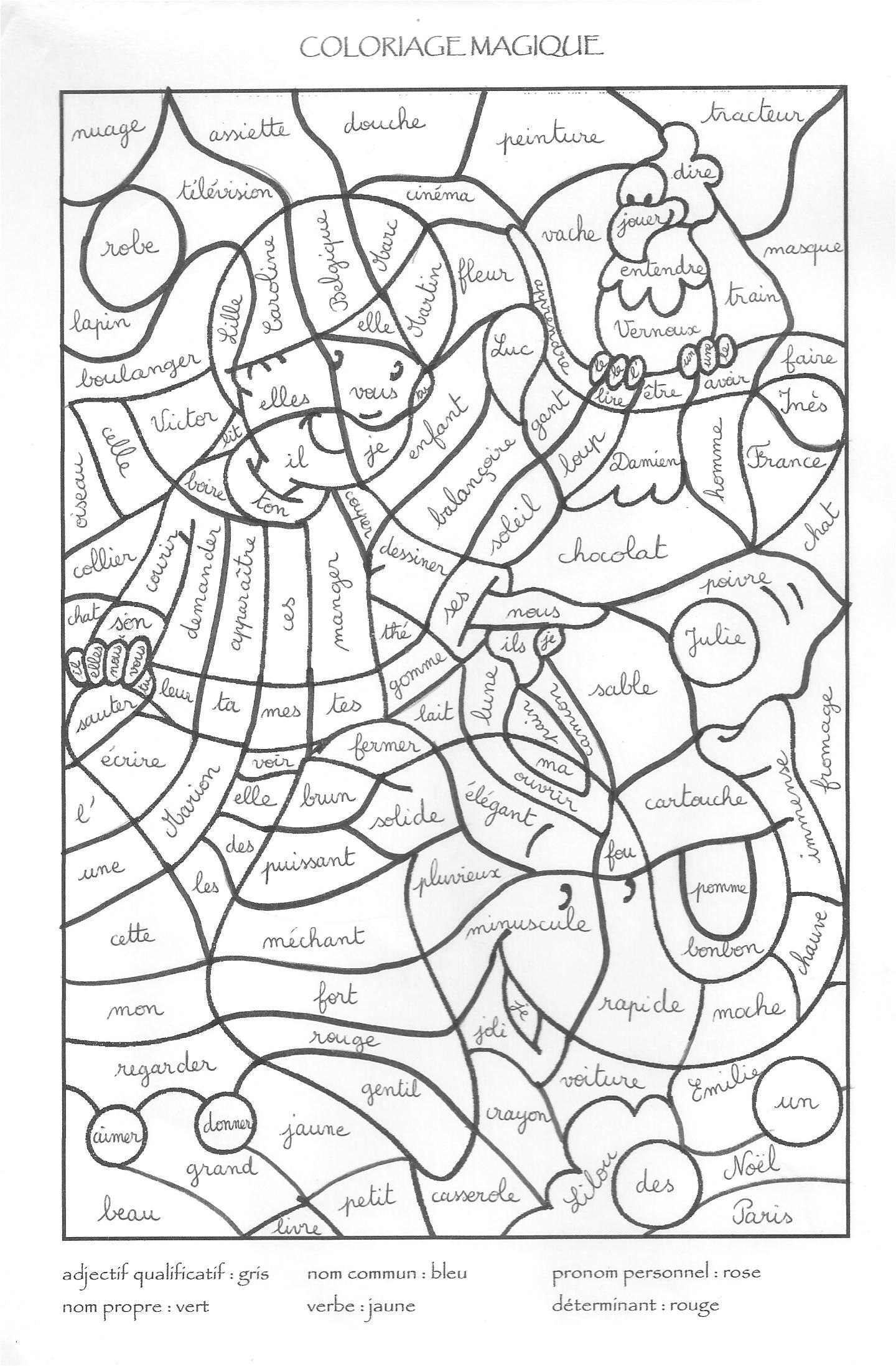 Coloriage Magique Anglais Cycle 3 | French Worksheets pour Coloriage Magique A Imprimer
