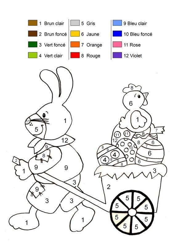 Coloriage Magique avec Coloriages Paques À Imprimer