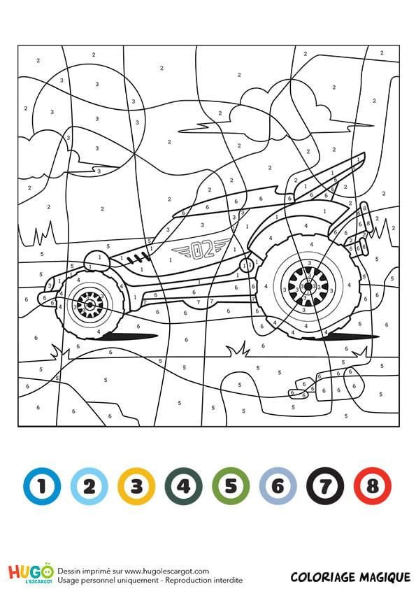 Coloriage Magique Ce1 : Un Buggy concernant Coloriage Garçon A Imprimer
