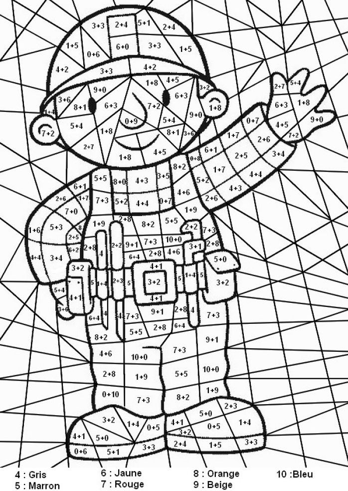 Coloriage Magique Ce2 À Colorier - Dessin À Imprimer (Avec serapportantà Coloriage Magique Multiplication Ce2 À Imprimer