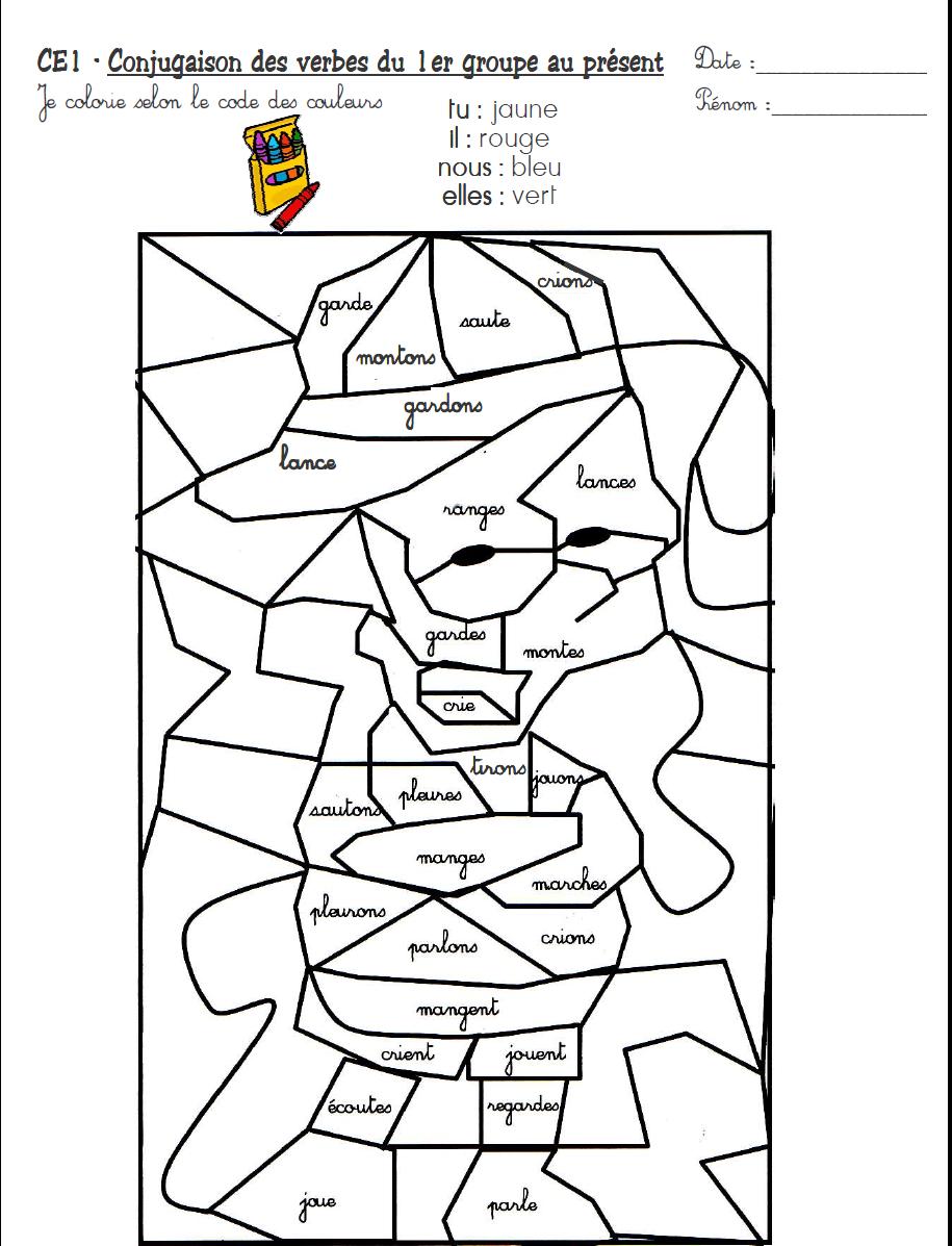 Coloriage Magique Ce2 Conjugaison - Coloriage Magique serapportantà Coloriage Magique