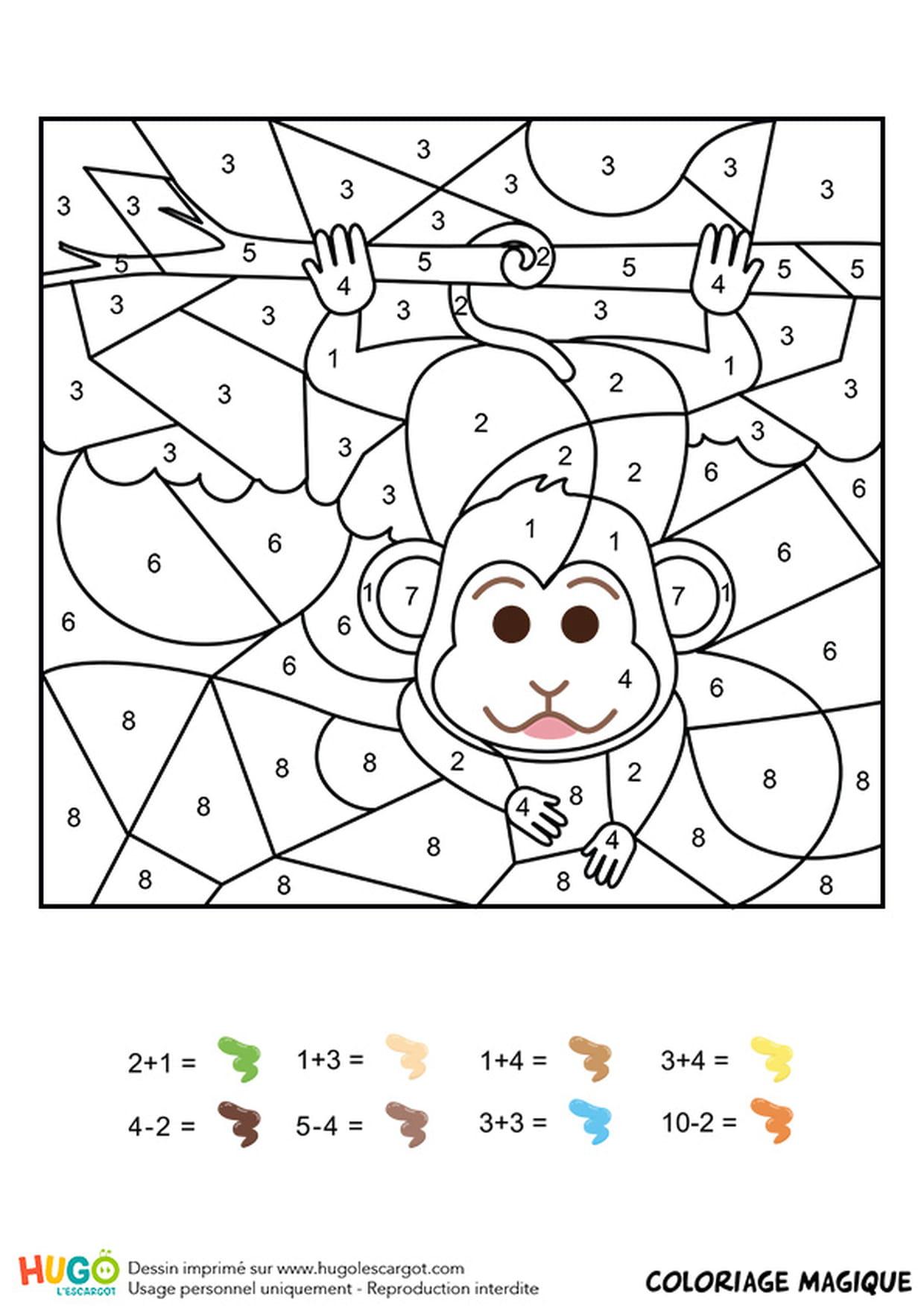 Coloriage Magique Chiffre Cp avec Coloriage Magique Ce1 Maths