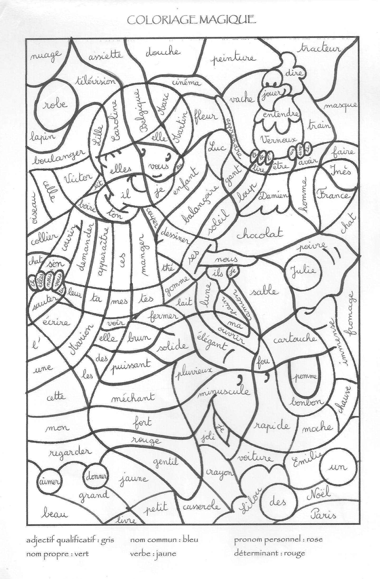 Coloriage Magique | Coloriage Magique Cm2, Coloriage tout Coloriage Magique Addition Ce1 À Imprimer