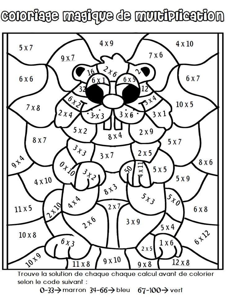 Coloriage Magique De Multiplication   Coloriage Magique destiné Coloriage Magique Maths Ce2