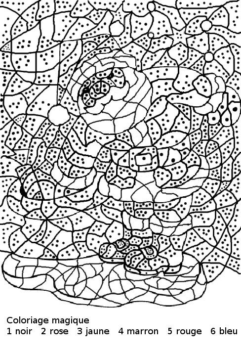 Coloriage Magique De Noel Cm1 A Imprimer encequiconcerne Coloriage Magique À Imprimer Gratuit