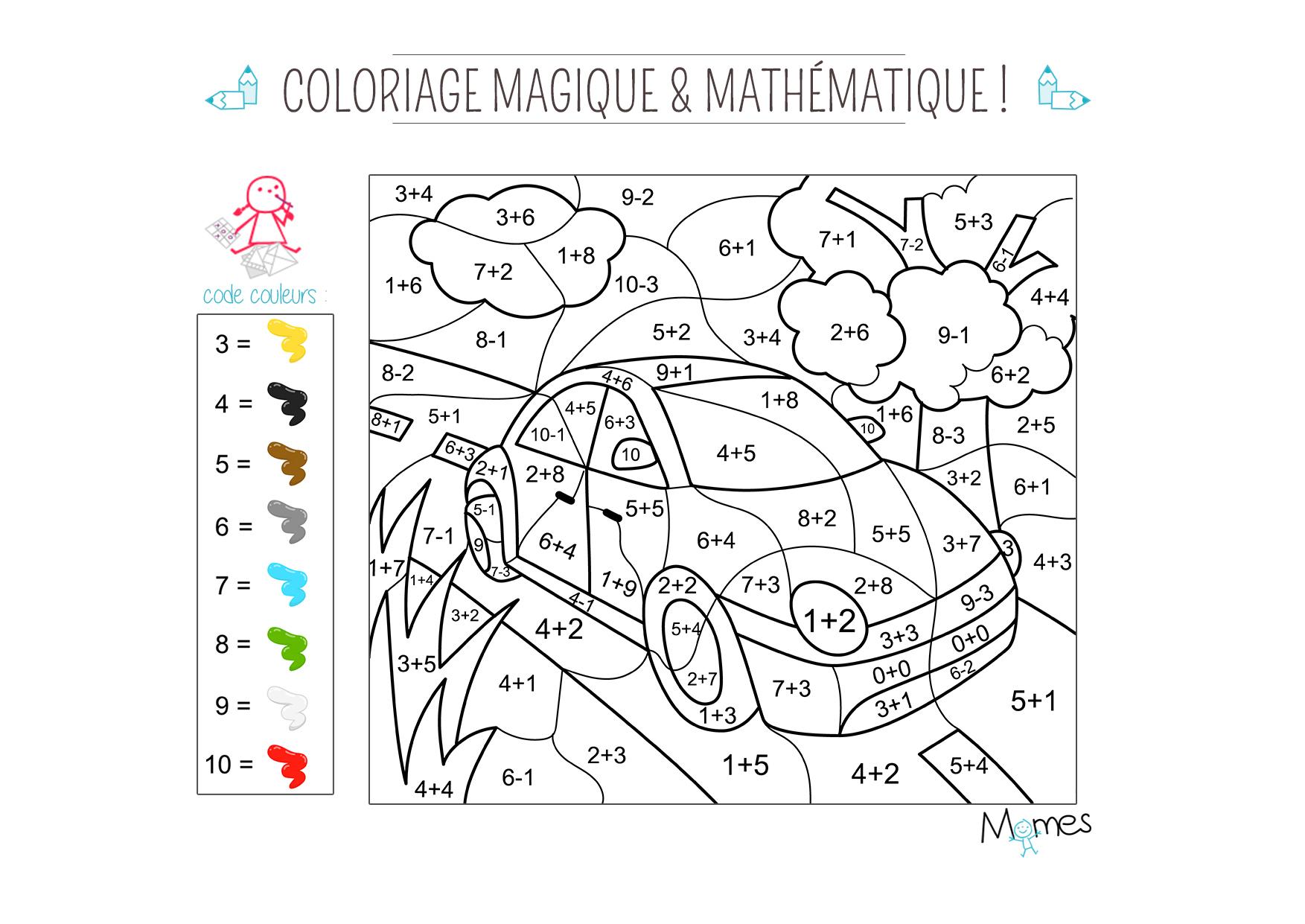 Coloriage Magique De Voiture | Haut Coloriage Hd-Images Et serapportantà Coloriage Magique Cp À Imprimer