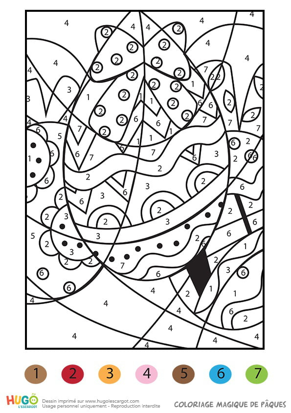 Coloriage Magique D'Œufs De Pâques à Coloriage Magique Paques Imprimer