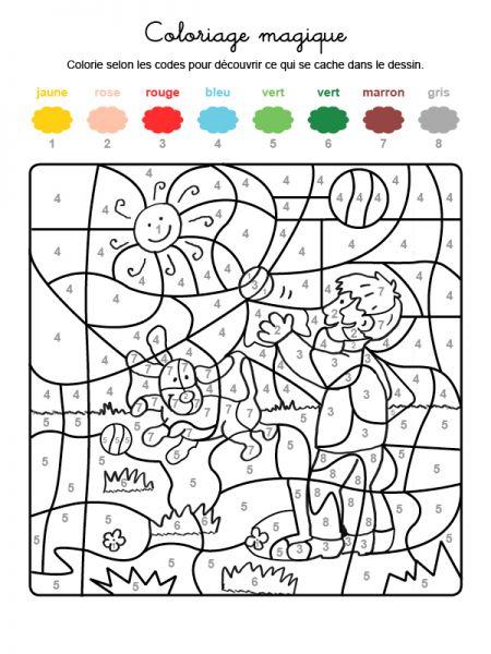 Coloriage Magique D'Un Jeu à Un Jeu De Coloriage