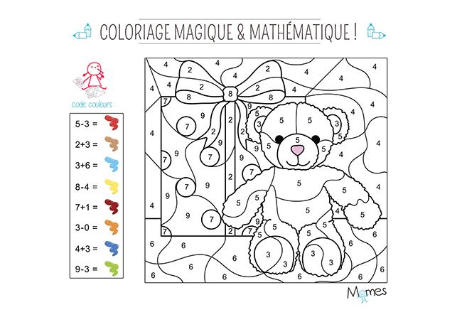Coloriage Magique Et Mathématique : Noël - Momes tout Coloriage De Violetta À Imprimer