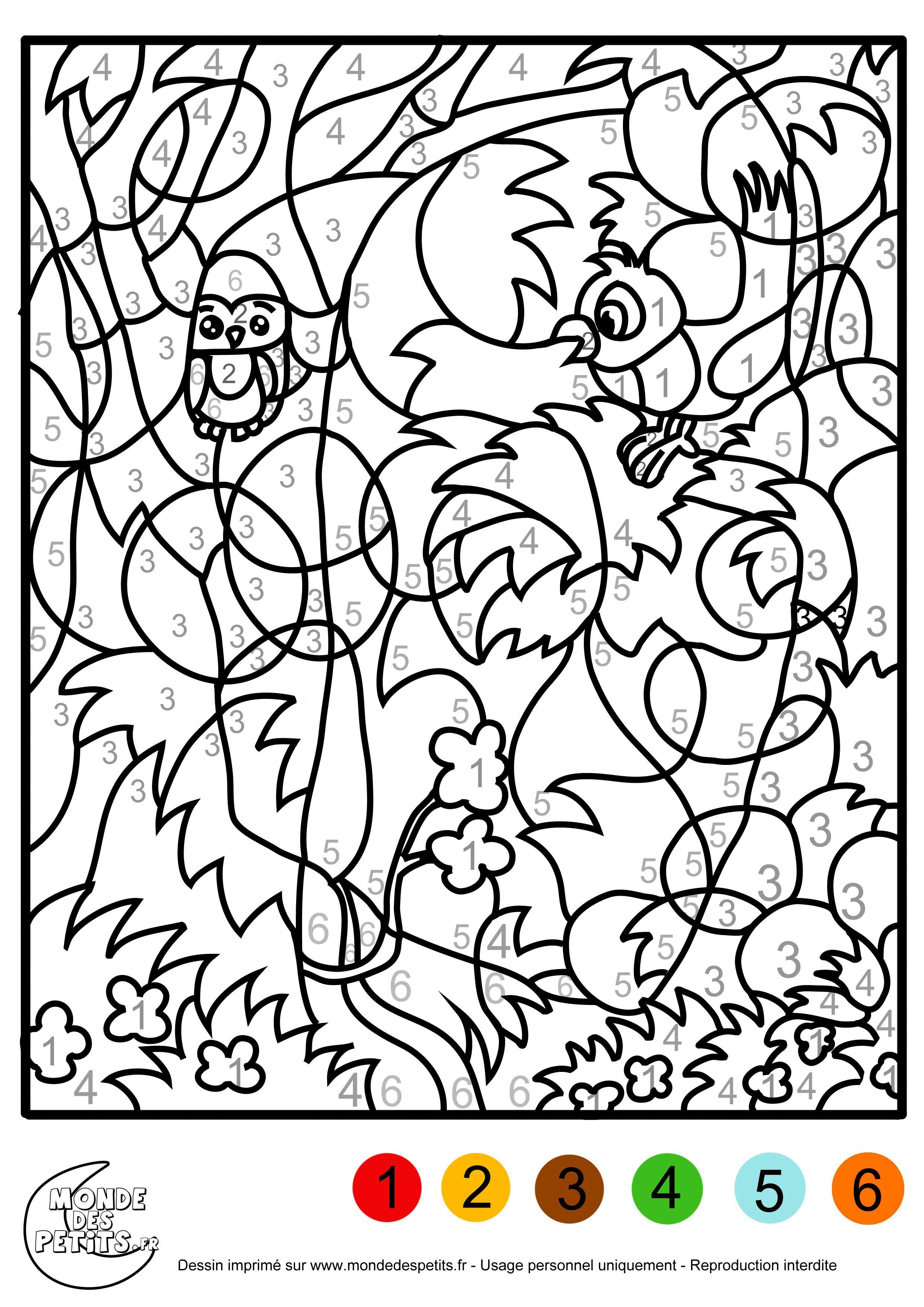 Coloriage Magique Gs À Colorier - Dessin À Imprimer encequiconcerne Coloriage Chiffre