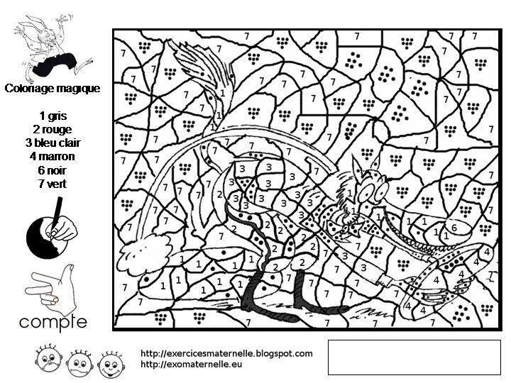Coloriage Magique Gs Maternelle Fresh Coloriage Code Loup serapportantà Coloriage Moyenne Section À Imprimer